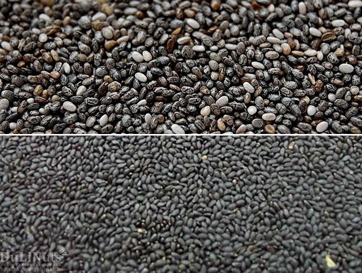 Cách phân biệt hạt Chia và hạt é