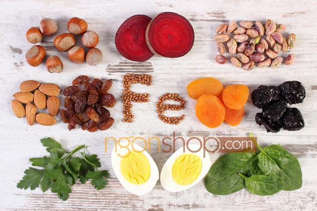Bổ sung sắt tự nhiên từ thực phẩm