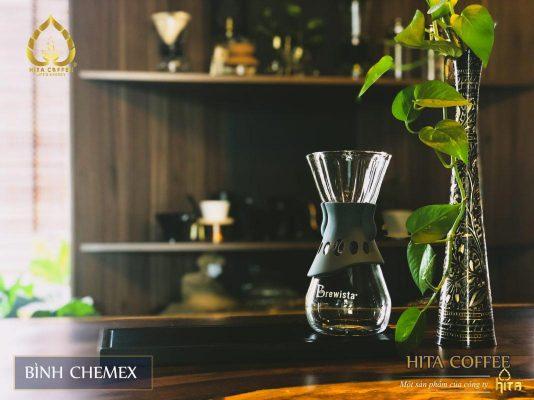 HITA Coffee - bình chemex eo bọc gỗ
