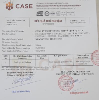 Chứng nhận Nhang sạch - Case